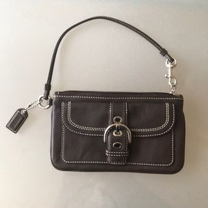 Brand New Leather Coach Wristlet